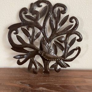 Hammered metal tree of life